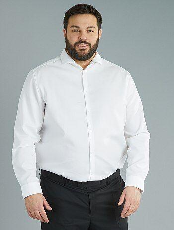 Recht, katoenen overhemd, Easy Iron - Kiabi