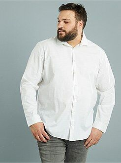 Recht model overhemd met print