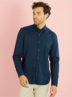 Recht model overhemd van katoen met 'paisley'-print