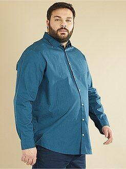 Recht model overhemd van katoen met print - Kiabi