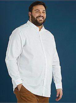 Recht overhemd van piquékatoen - Kiabi