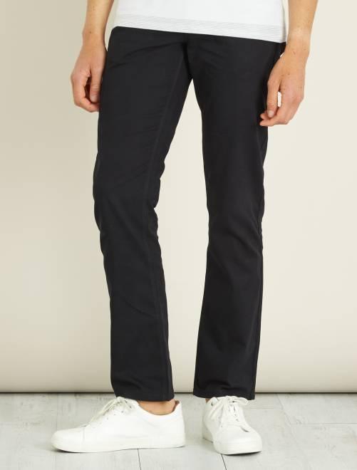 Rechte broek met 5 zakken                                                     zwart Herenkleding