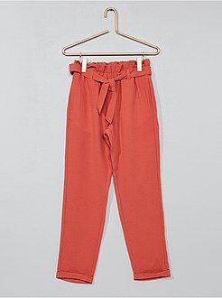 Meisjes broeken - Rechte broek van een soepele bedrukte stof - Kiabi