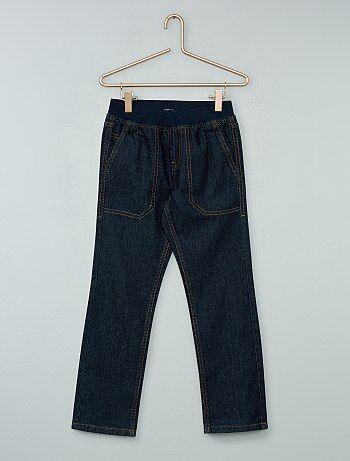 Rechte jeans met een elastische tailleband - Kiabi