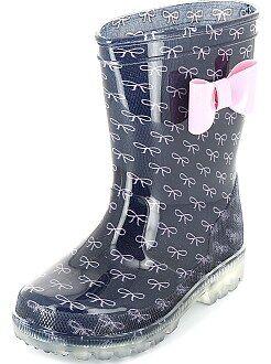 Meisjes schoenen - Regenlaarzen met lichtgevende zool - Kiabi