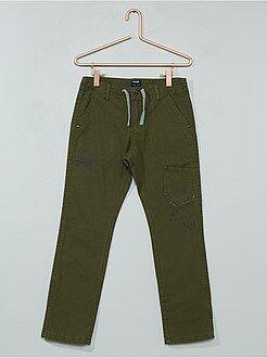 Kinder broeken - Regular broek met een tricot voering - Kiabi