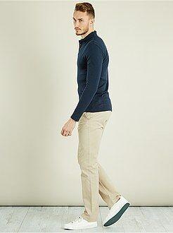 Heren tall (> 190cm) - Regular chinobroek van 100% katoen L36 1,90 m+ - Kiabi