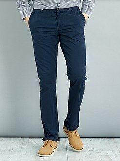 Heren tall (> 190cm) - Regular chinobroek van 100% katoen L38 1,90 m+ - Kiabi