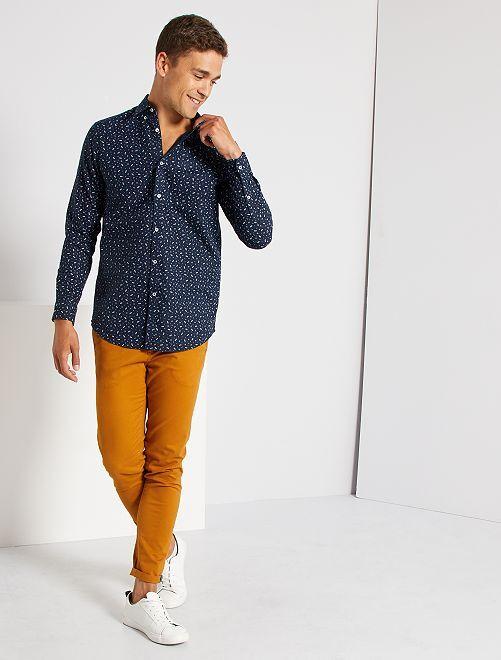 Regular-fit hemd van oxfordkatoen                                                                 BLAUW