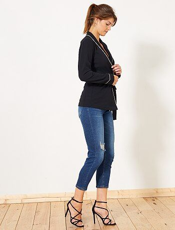 Regular jeans met versleten plekken - Kiabi