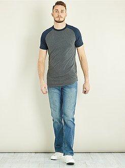 Regular jeans van 100% katoen L36 + 1,90 m - Kiabi