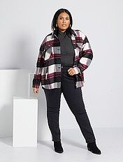 Regular jeans van stretch denim, lengte 75 cm