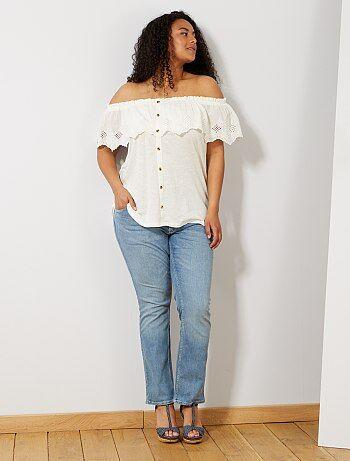 Regular jeans van stretch denim, lengte 75 cm - Kiabi