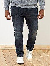 Regular licht gebleekte jeans