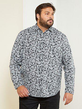Herenmode grote maten - Regular overhemd met bloemenprint - Kiabi