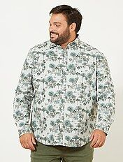Regular overhemd met jungleprint