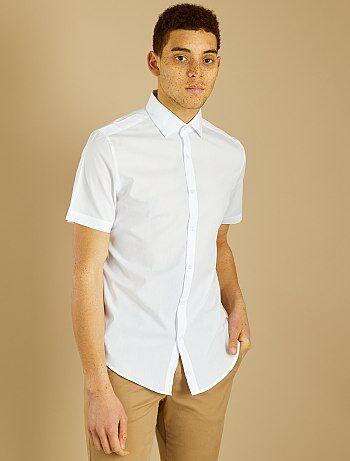 Casual Wit Overhemd.Goedkoop Wit Overhemd Heren Ruime Keuze Aan Overhemden Mode Kiabi