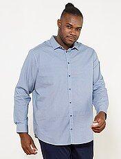 Regular overhemd met micromotief