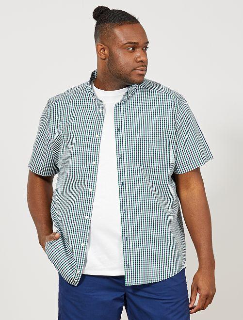 Regular overhemd met print                                                                             GROEN Herenmode grote maten