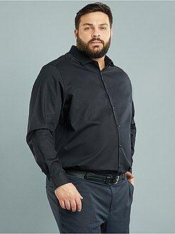 Overhemd - Regular overhemd van dobbykatoen