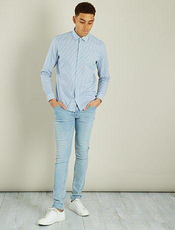 Regular overhemd van gestreept katoen - Kiabi