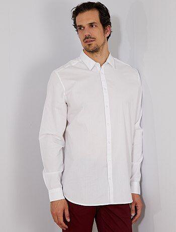 Regular overhemd van twill - Kiabi