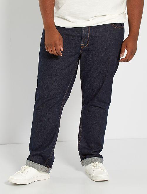 Regular raw denim jeans                             BLAUW