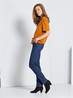 Jeans - Regular stretch jeans met hoge taille - Kiabi