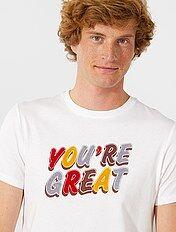Regular T-shirt met een ecodesign
