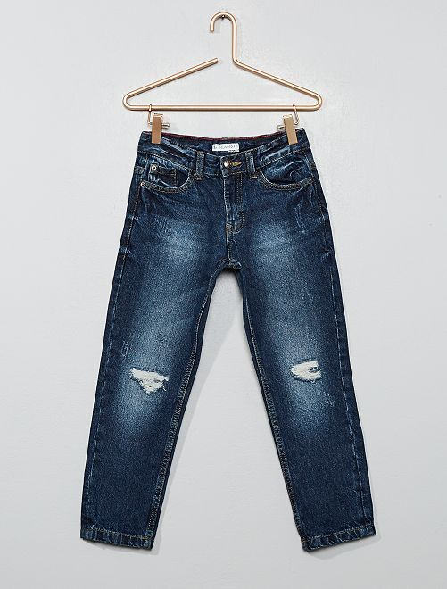 Relaxed destroyed jeans                                         BLAUW