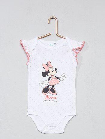 Meisje 0-36 maanden - Rompertje van 'Minnie' met ruches - Kiabi