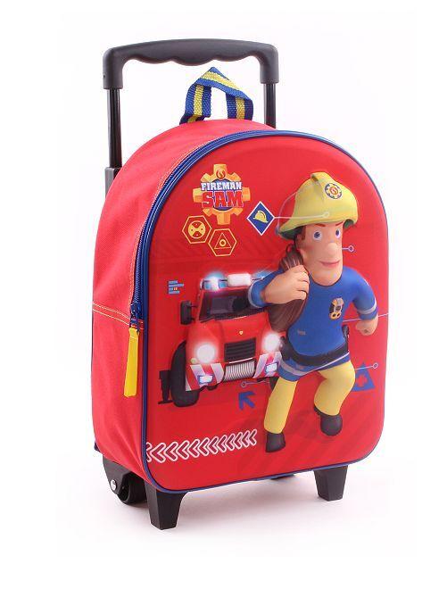 Rugzak met wieltjes van 'Brandweerman Sam'                             rood Kinderkleding jongens