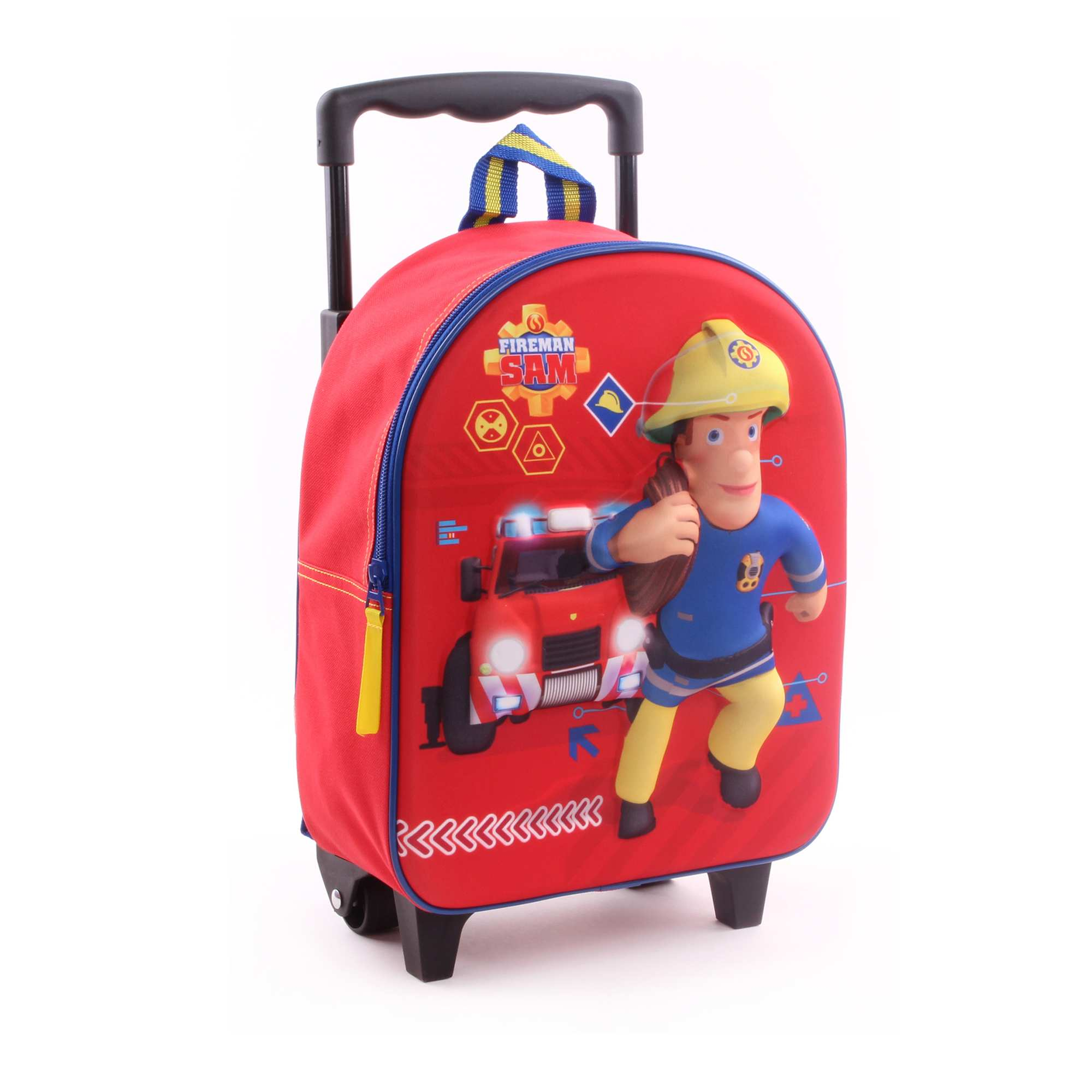 65408352208 Rugzak met wieltjes van 'Brandweerman Sam' rood Kinderkleding jongens.  Loading zoom