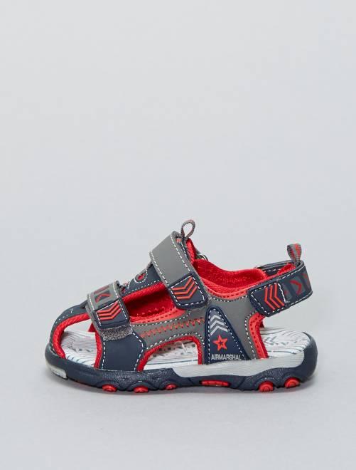 Sandalen met klittenband                             ZWART Jongens babykleding