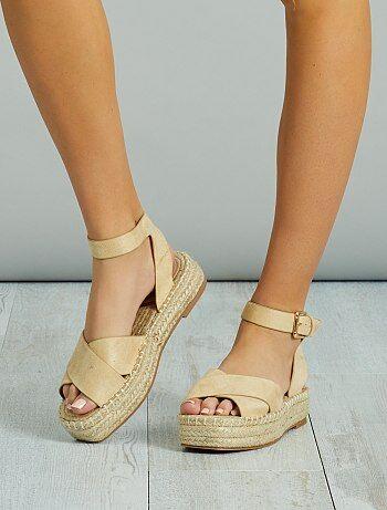 Sandalen met plateauzool - Kiabi
