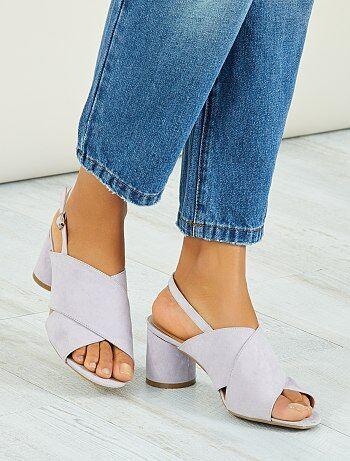 Sandalen met ronde hakken - Kiabi