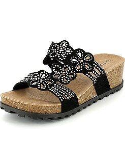 Sandalen met hak - Sandalen met sleehakken met strass - Kiabi