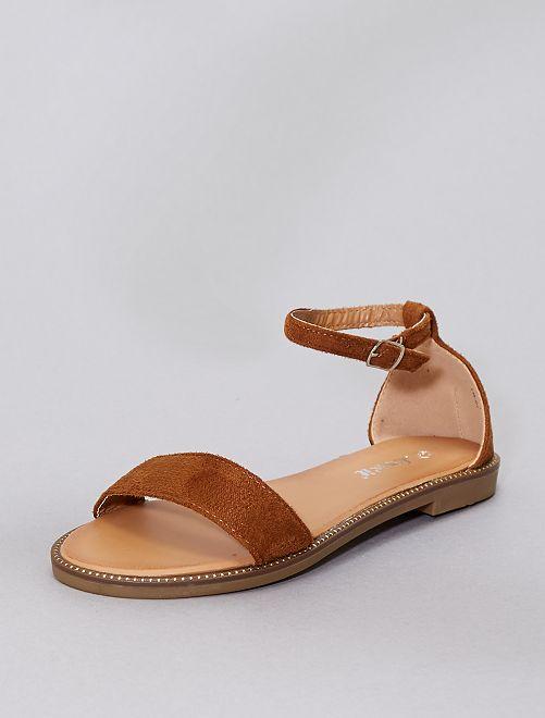 Sandalen met stras                                                                             khaki