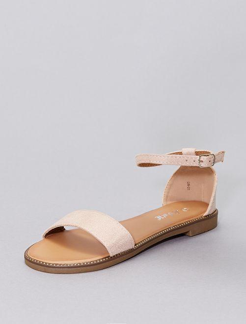 Sandalen met stras                                                                             roze