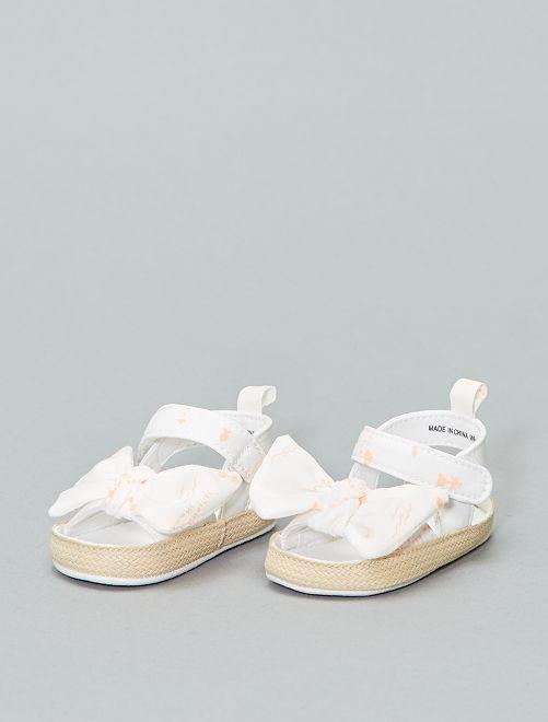 Sandalen met strik                             WIT Meisjes babykleding