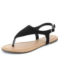 Slippers - Sandalen van suèdine - Kiabi