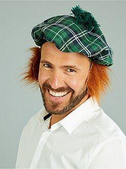 Schotse baret met vaste pruik - Kiabi