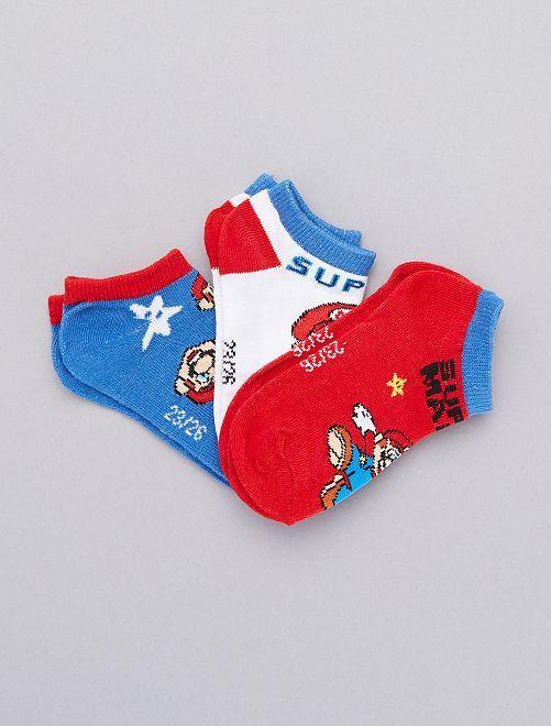 Set lage 'Super Mario'-sokken                             ROOD Kinderkleding jongens