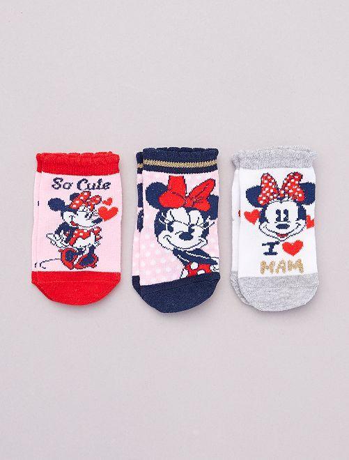Set met 3 paar sokken 'Minnie' 'Disney'                                         ROSE