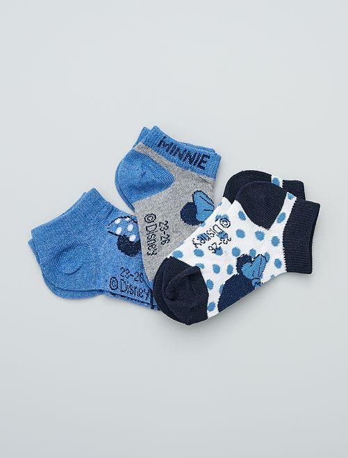 Set met 3 paar sokken 'Minnie'                                         WIT