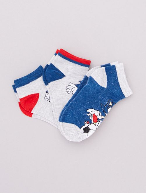 Set met 3 paar sokken 'Sonic'                             BLAUW