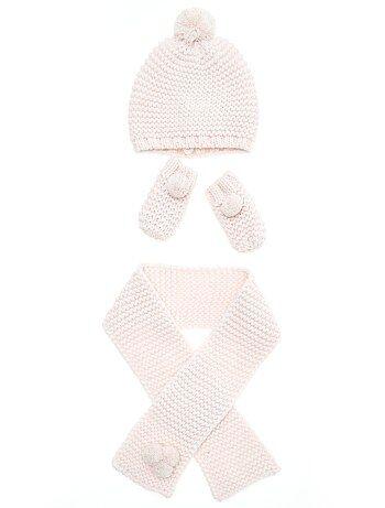 Set met een muts, een sjaal en wanten - Kiabi
