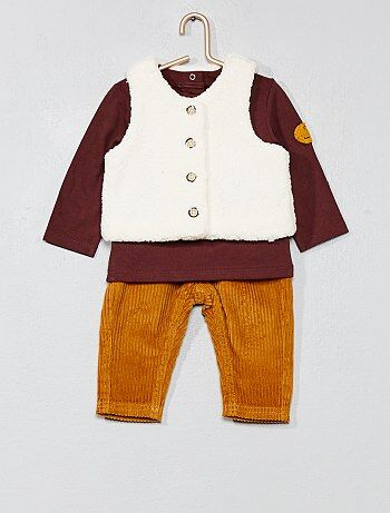 Set met een T-shirt, vest en broek - Kiabi