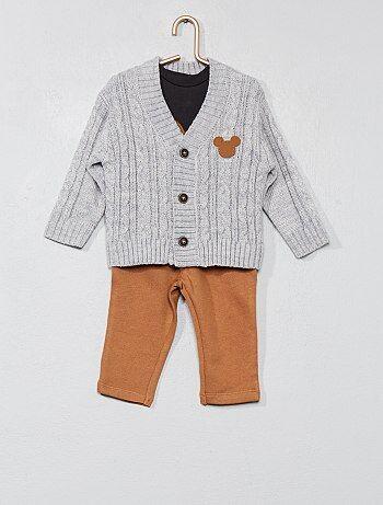 Set met een T-shirt, vestje en broek van 'Mickey' - Kiabi