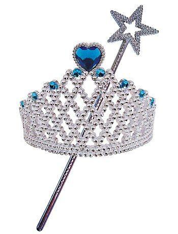 Set met 'kroontje' en 'staf' voor prinsessen of feeën - Kiabi